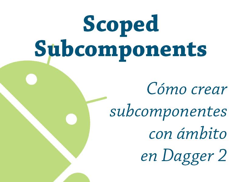 Imagen de cabecera del artículo. Scoped subcomponents